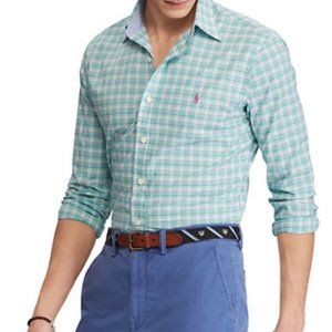Ralph Lauren LS Classic Fit Plaid Stretch Shirt